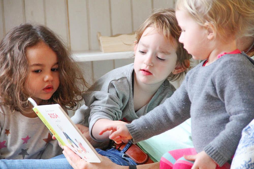 Montessori Kleinkind Buch lesen Kleinkindgemeinschaft