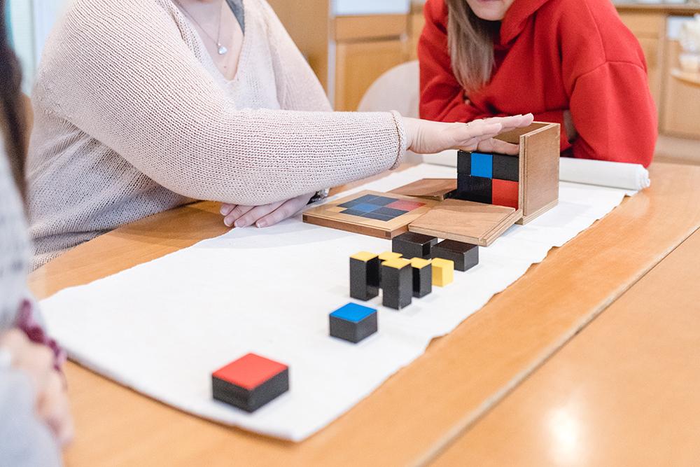Montessori Material in der Montessori Akademie
