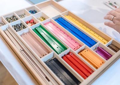 Montessori Material der Geometriekasten nach Maria Montessori Ausbildung Pädagogik